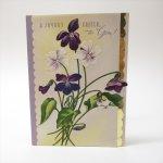 オーナメント&デコレーション  ヴィンテージカード イースター 1930年代〜50年代 Joyous Easter スミレ 使用済
