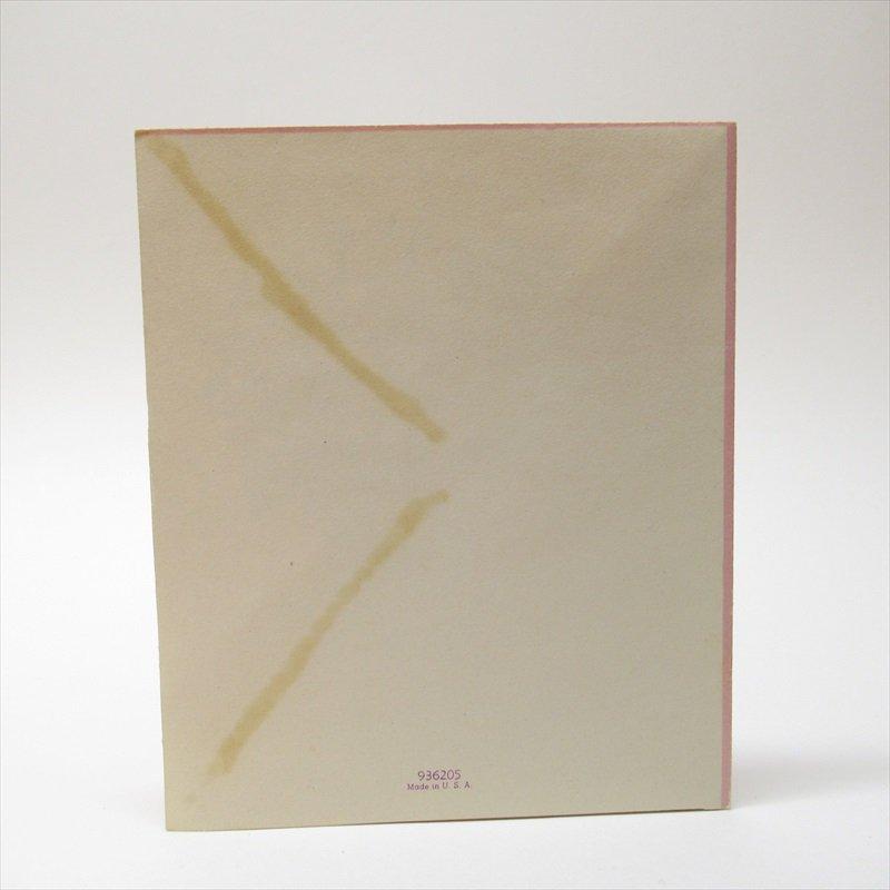 ヴィンテージカード イースター 1930年代〜50年代  3ページ スミレブーケ 使用済【画像7】