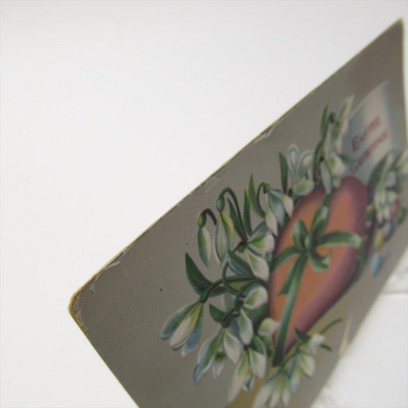アンティークポストカード イースター 1910年 ハート【画像3】