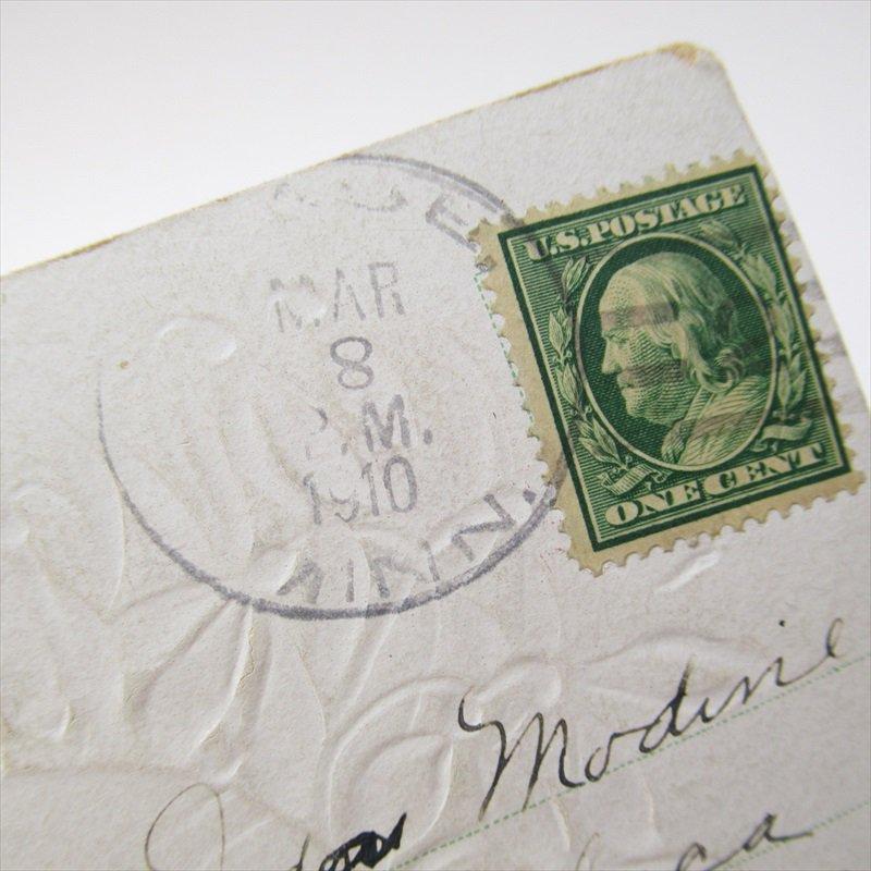 アンティークポストカード イースター 1910年 ハート【画像5】