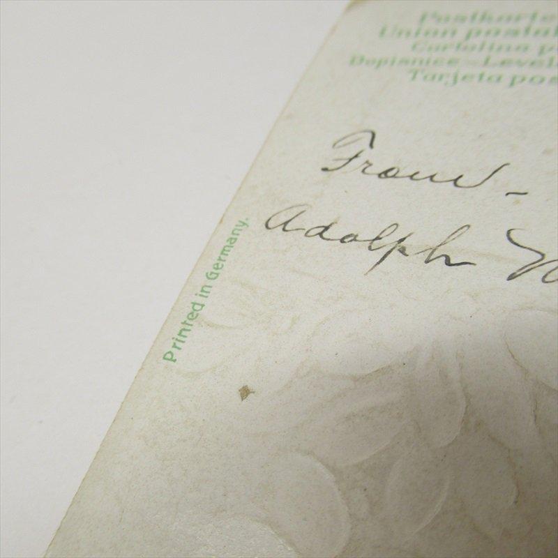 アンティークポストカード イースター 1910年 ハート【画像6】