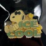 スヌーピー  スヌーピー ヴィンテージピンズ 台紙付 デッドストック ICE COOL