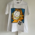 レディス  ガーフィールド USA製 SUN社 ヴィンテージレディスMサイズ Tシャツ デッドストック THE-BIG CHEESE ホワイト