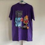 メンズ  ガーフィールド USA製 ヴィンテージメンズMサイズ Tシャツ デッドストック GIVE IT YOUR BEST SHOT 紫