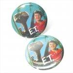 ファッション  E.T. 特大缶バッチ E.T.とエリオット B