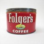パッケージ&パッケージに味のある雑貨&チーズボックスなど  ヴィンテージティン缶 Folgers コーヒー