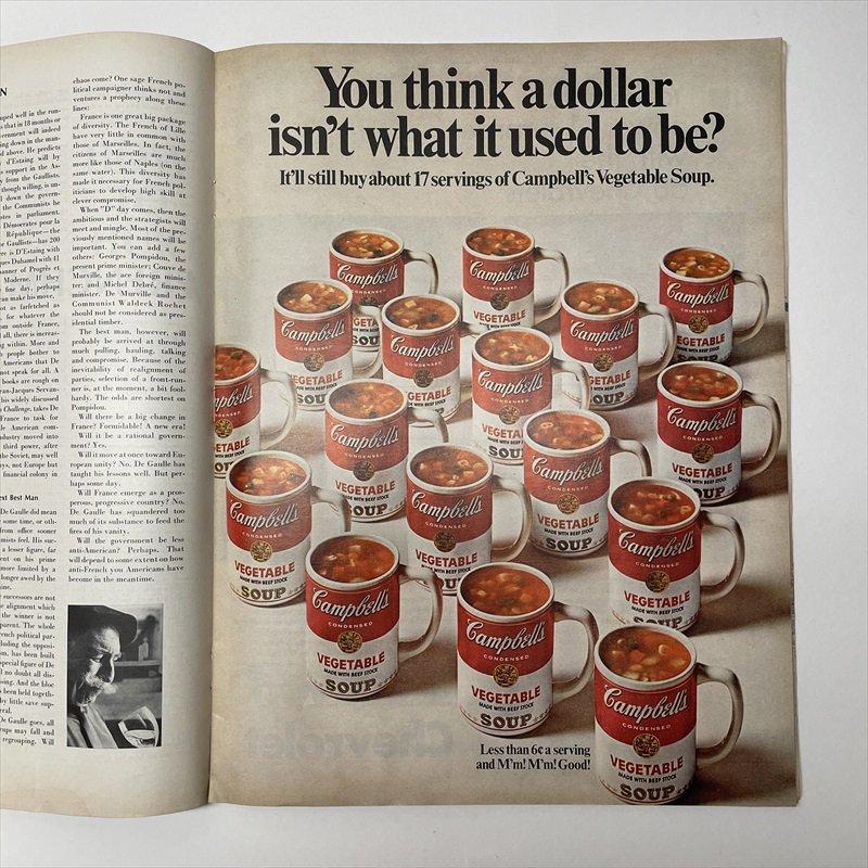 ライフマガジン LIFE誌 1968年1月19日号バドワイザー広告有【画像7】