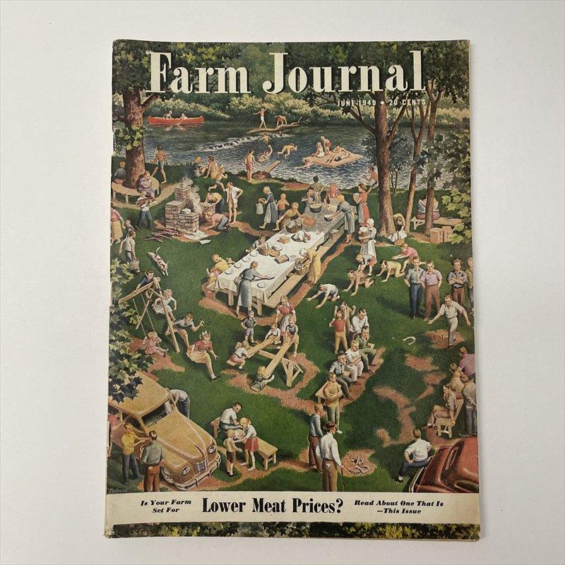 ヴィンテージマガジン ファームジャーナル 1949年6月号 パイレックス広告有