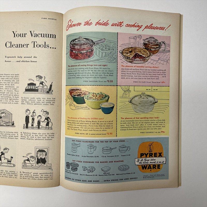 ヴィンテージマガジン ファームジャーナル 1949年6月号 パイレックス広告有【画像11】