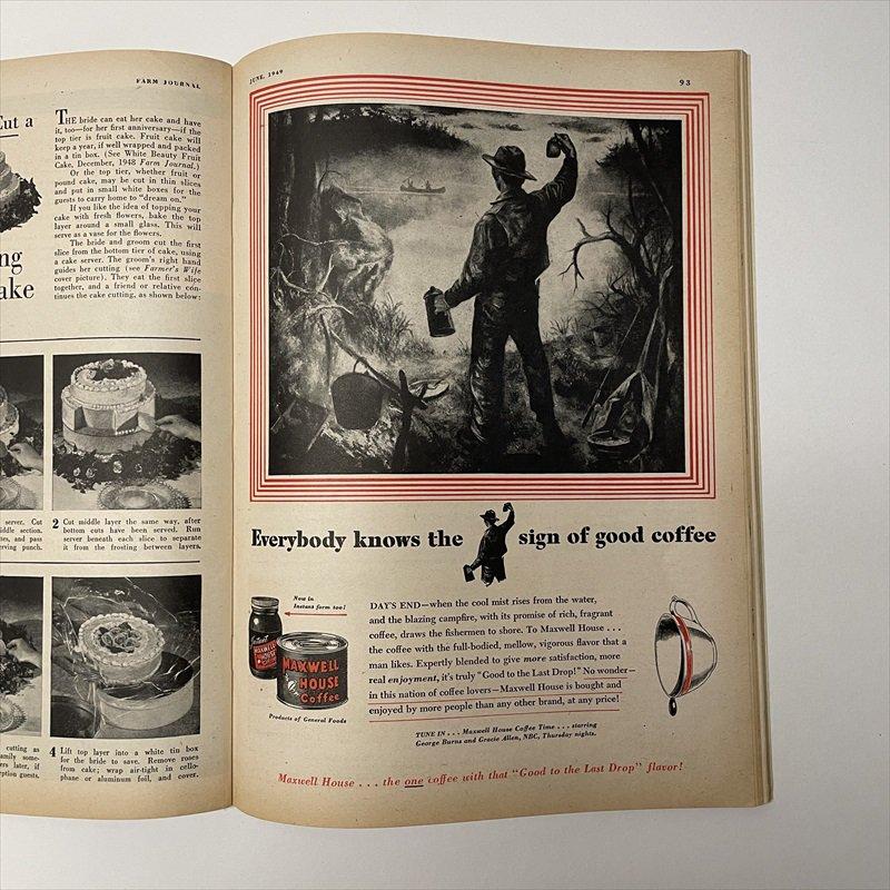 ヴィンテージマガジン ファームジャーナル 1949年6月号 パイレックス広告有【画像13】