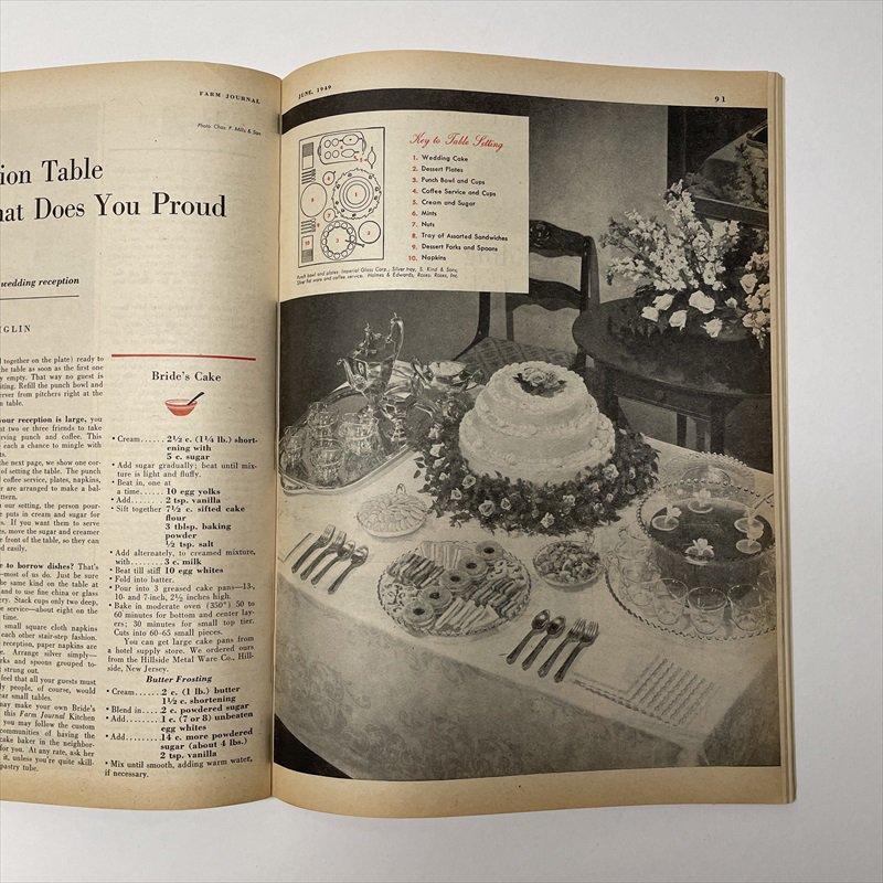 ヴィンテージマガジン ファームジャーナル 1949年6月号 パイレックス広告有【画像14】