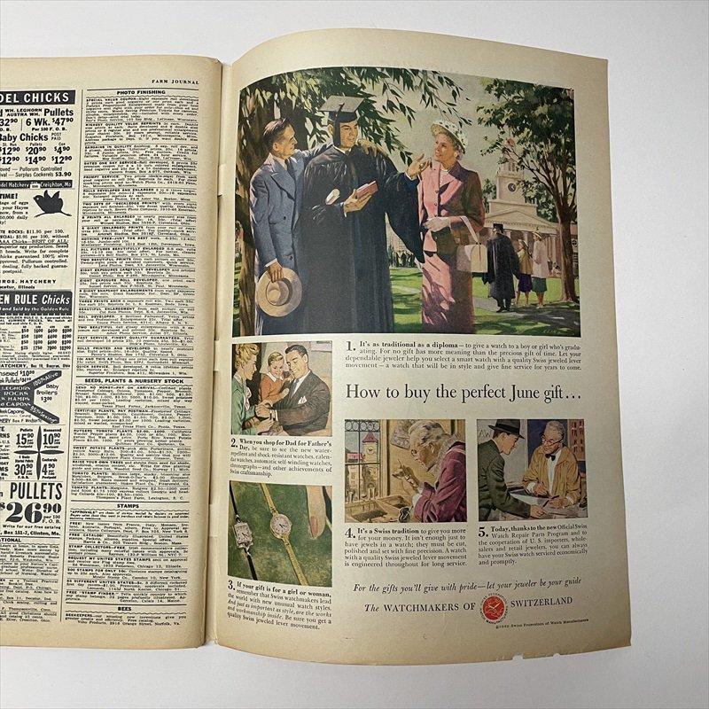 ヴィンテージマガジン ファームジャーナル 1949年6月号 パイレックス広告有【画像4】
