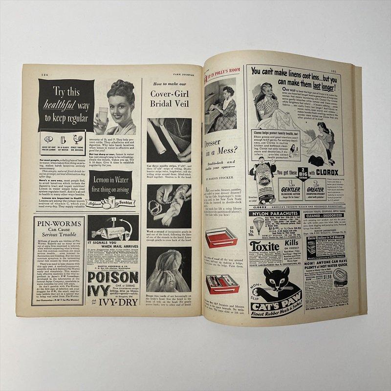 ヴィンテージマガジン ファームジャーナル 1949年6月号 パイレックス広告有【画像6】