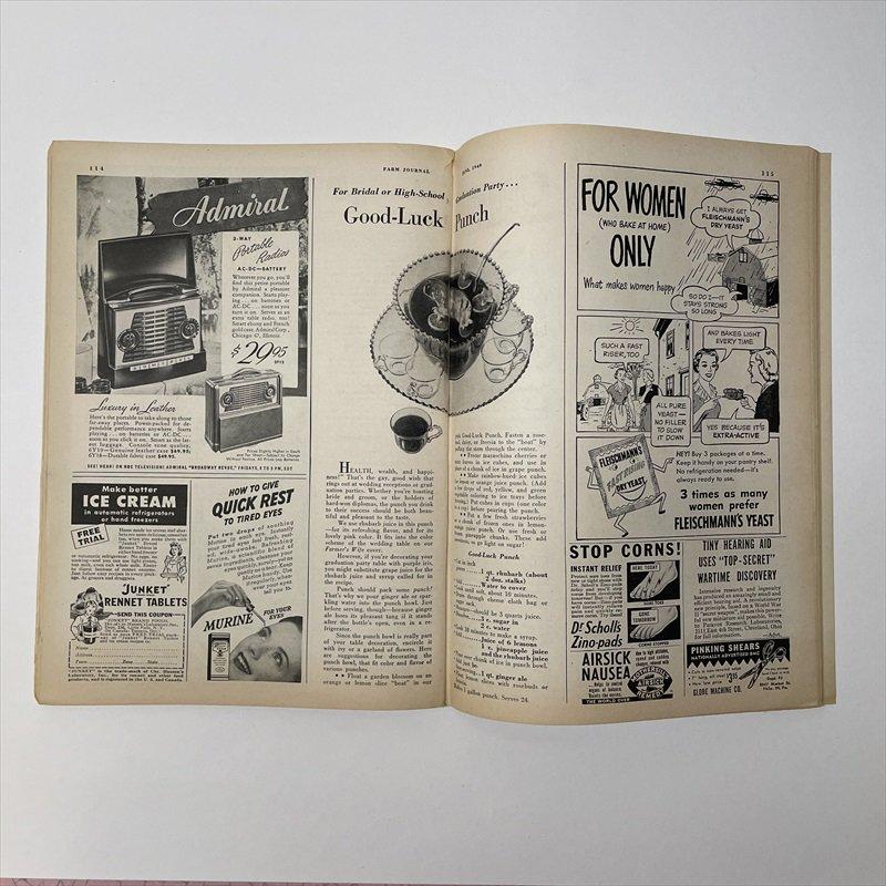 ヴィンテージマガジン ファームジャーナル 1949年6月号 パイレックス広告有【画像9】