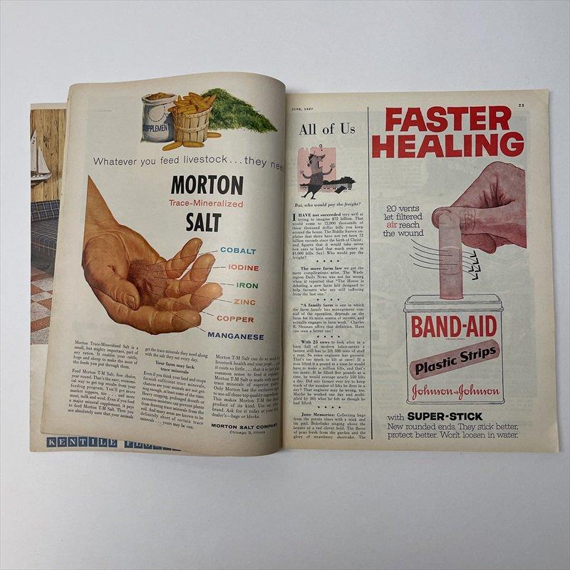 ヴィンテージマガジン ファームジャーナル 1957年6月号7UP&ボーデン広告有【画像11】