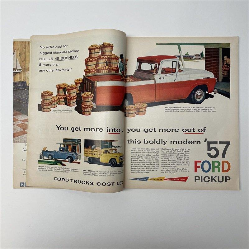 ヴィンテージマガジン ファームジャーナル 1957年6月号7UP&ボーデン広告有【画像12】