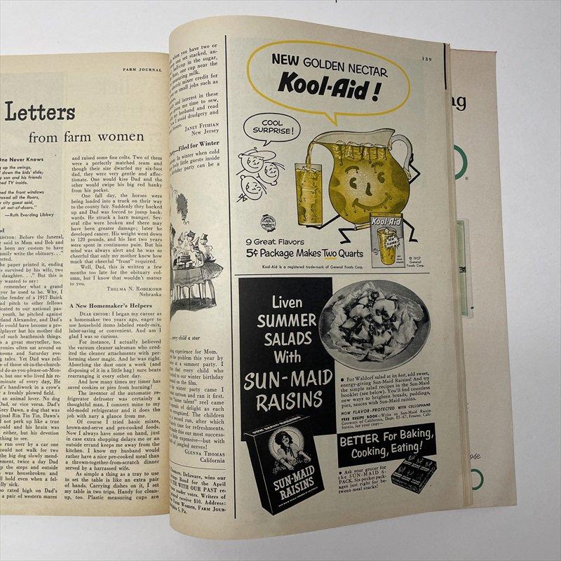 ヴィンテージマガジン ファームジャーナル 1957年6月号7UP&ボーデン広告有【画像4】