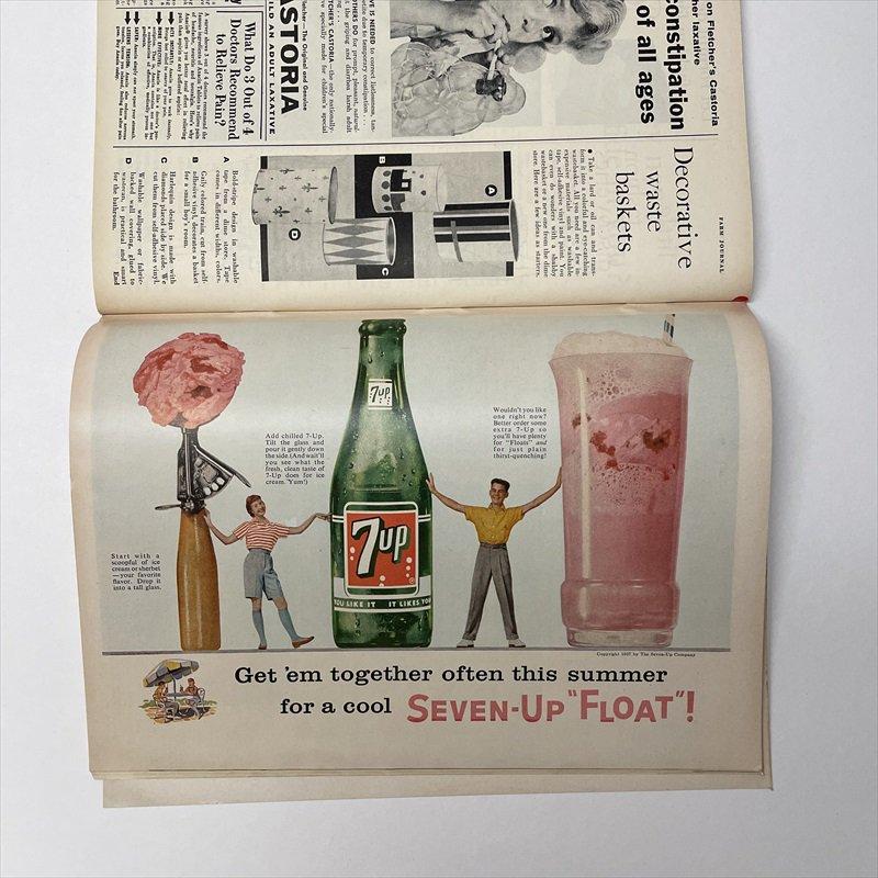 ヴィンテージマガジン ファームジャーナル 1957年6月号7UP&ボーデン広告有【画像5】