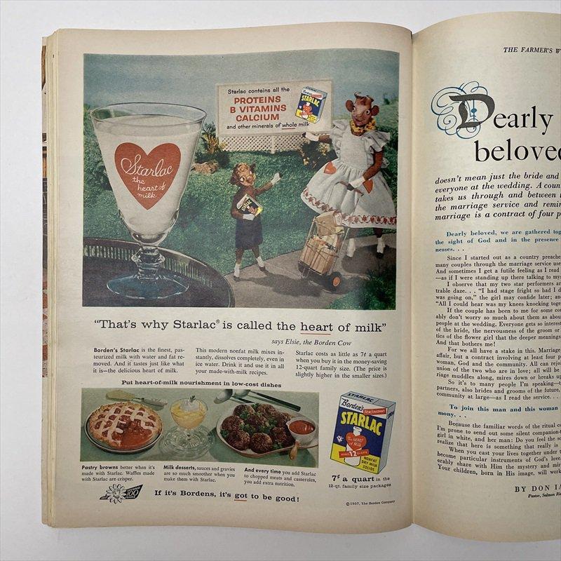 ヴィンテージマガジン ファームジャーナル 1957年6月号7UP&ボーデン広告有【画像8】