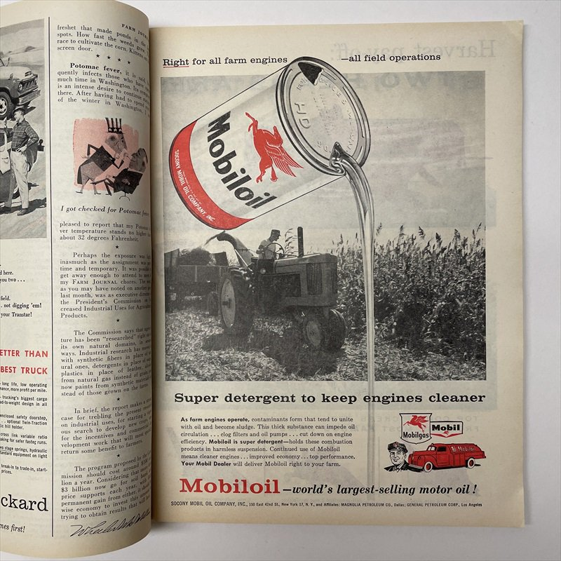 ヴィンテージマガジン ファームジャーナル 1957年6月号7UP&ボーデン広告有【画像10】