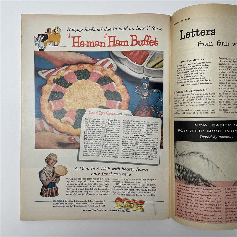 ヴィンテージマガジン ファームジャーナル 1957年11月号7UP広告有【画像5】