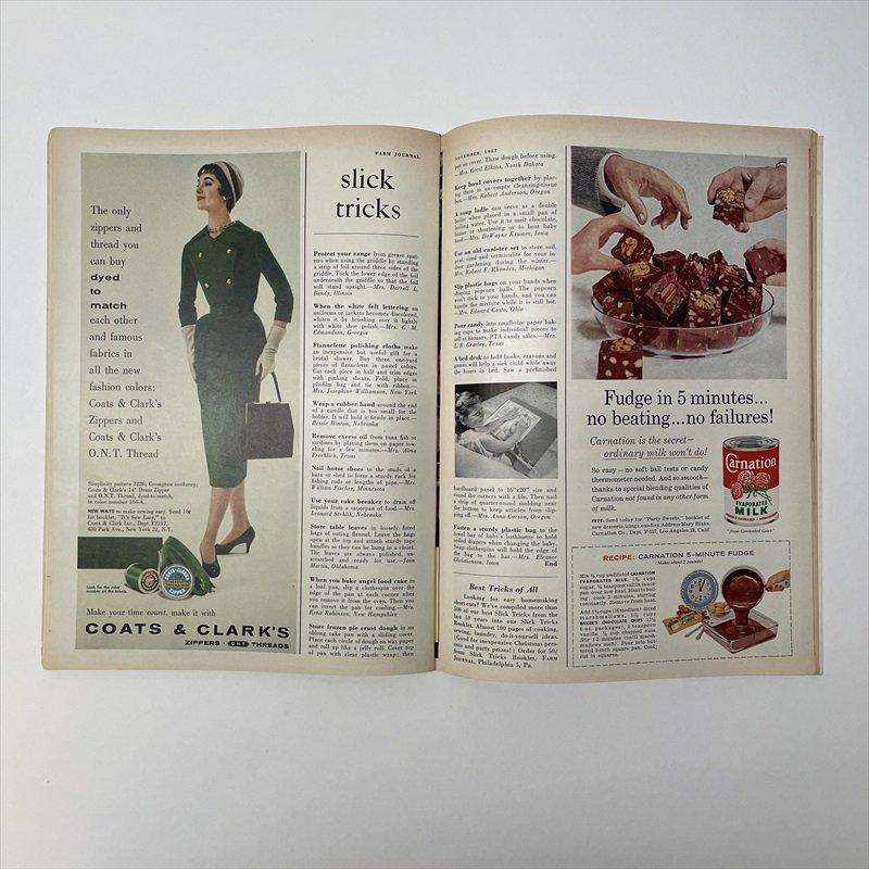 ヴィンテージマガジン ファームジャーナル 1957年11月号7UP広告有【画像7】
