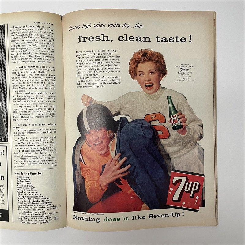 ヴィンテージマガジン ファームジャーナル 1957年11月号7UP広告有【画像8】