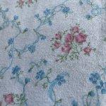シーツ&ハンドメイド素材  ヴィンテージファブリック ネル地 ピンクx青い小花はぎれ 4枚セット