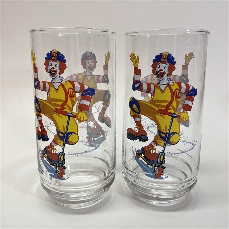 マクドナルド 2002年 ロナルド キックボード グラス A【画像4】