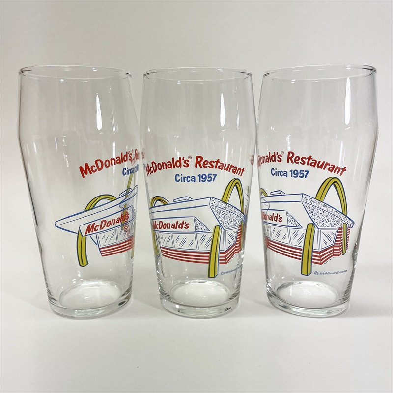 マクドナルド 1995年 ミルクシェイクグラス McDonald Restaurant Circa 1957