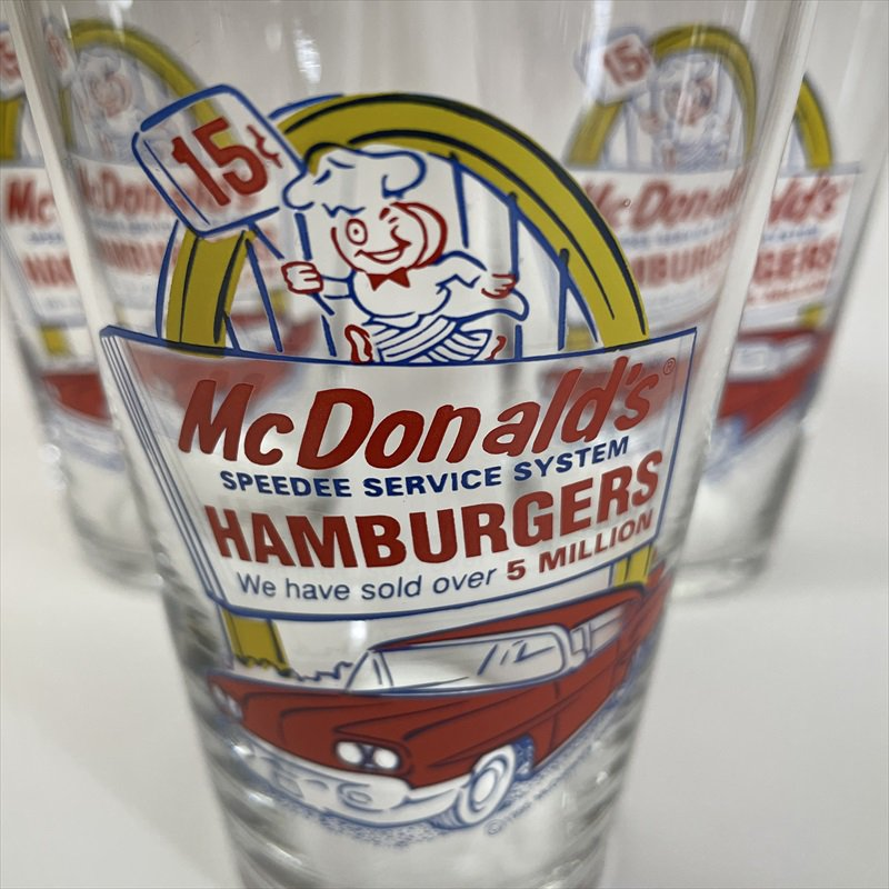 マクドナルド 1995年 ミルクシェイクグラス スピーディーとドライブスルー A