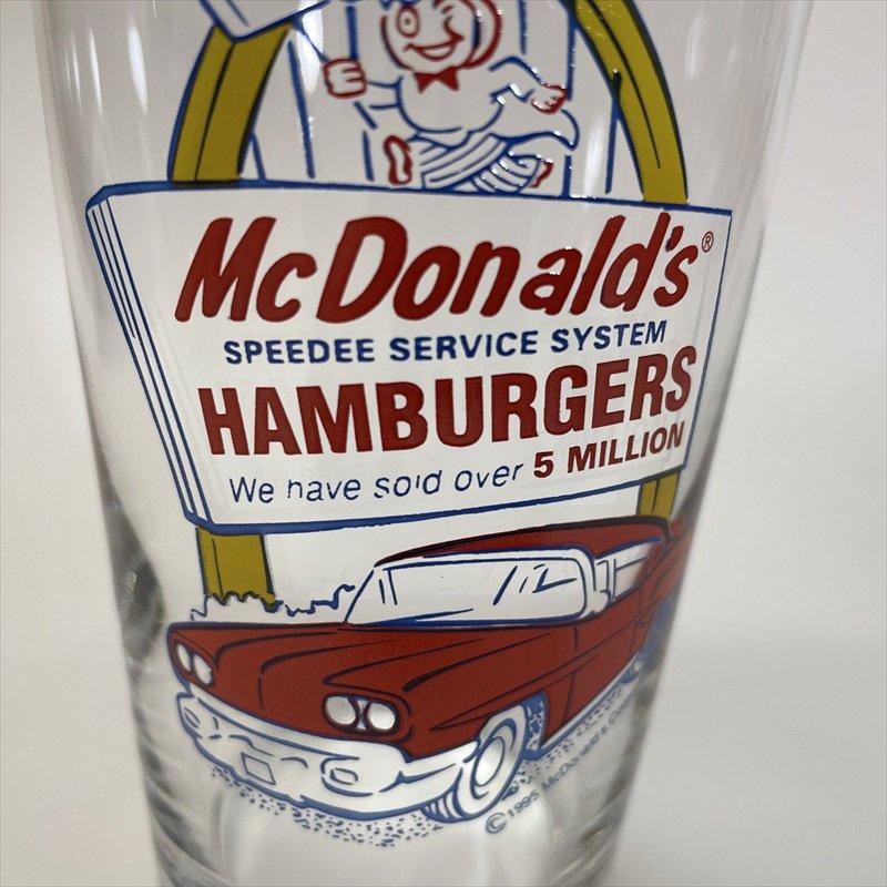 マクドナルド 1995年 ミルクシェイクグラス スピーディーとドライブスルー A【画像8】