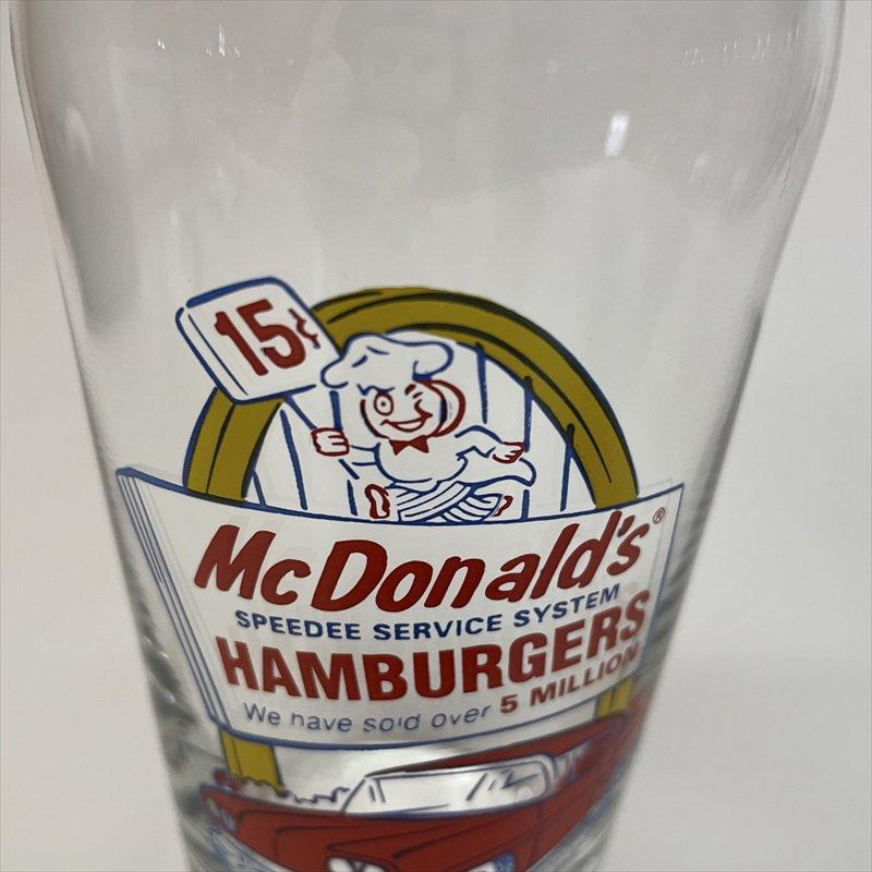 マクドナルド 1995年 ミルクシェイクグラス スピーディーとドライブスルー A【画像10】