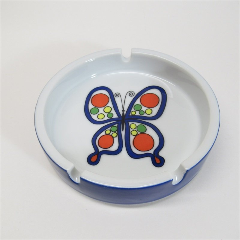 レトロバタフライ陶器製灰皿