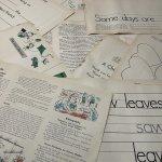 チケット、スコアパッドなどの紙物・紙モノ雑貨  紙モノセット 1960年 キッズ用大判ワークシート 10枚セット #8