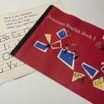 チケット、スコアパッドなどの紙物・紙モノ雑貨  紙モノセット 1960年 キッズ用大判ワークシート 表&裏表紙セット #9