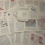 チケット、スコアパッドなどの紙物・紙モノ雑貨  紙モノセット コピーライト1929年 児童書ページセット 36枚 アウトレット #1