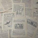 チケット、スコアパッドなどの紙物・紙モノ雑貨  紙モノセット コピーライト1929年 児童書ページセット 33枚 #3