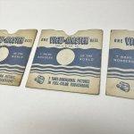 チケット、スコアパッドなどの紙物・紙モノ雑貨  紙モノセット View Masterリール用紙ケース 3枚セット