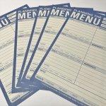 チケット、スコアパッドなどの紙物・紙モノ雑貨  紙モノ 献立プランシート5枚セット