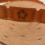チケット、スコアパッドなどの紙物・紙モノ雑貨  紙モノ スターチケット 20枚セット オレンジ