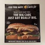 ブックス  カールズジュニア広告 The Big Carl