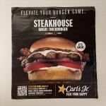 ブックス  カールズジュニア広告 Steak House