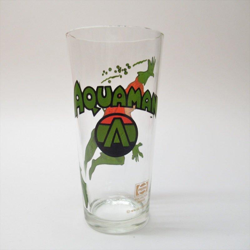 アクアマン スーパーヒーローズコレクターシリーズ ペプシ販促用グラス 1970年代【画像3】
