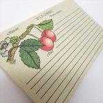 ヴィンテージ雑貨  レシピカード ワイルドチェリー 23枚セット
