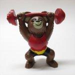 アドバタイジング・組織系  こぐまのミーシャ オリンピックマスコット 1979年 PVCフィギュア  重量挙げ