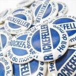 選挙  缶バッチ 選挙 Rockefeller ロックフェラー