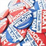選挙  缶バッチ 選挙 Rocky / Wilson