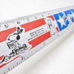 定規&メジャリングテープ  スヌーピー アメリカンカラー ホールマーク メタル製 定規