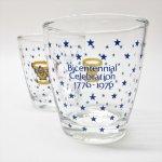 もともと何かの容器だったグラス  アメリカ200周年記念 1976年 サワークリームグラス A